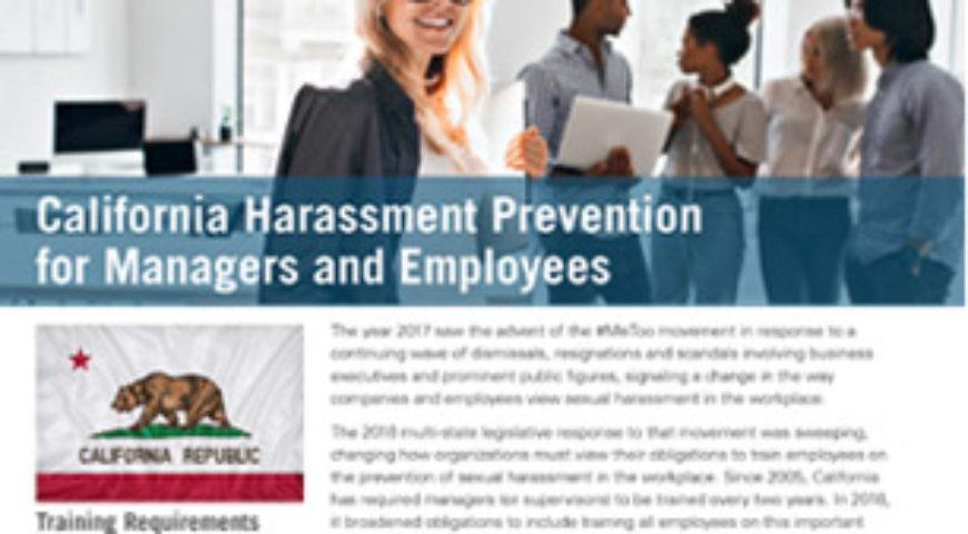 California Harassment Prevention