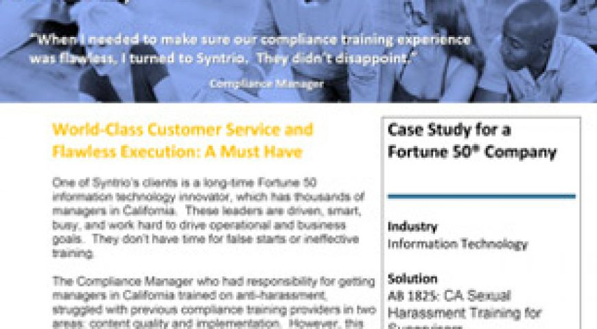 How Syntrio Provided World-Class Customer Service & Flawless Execution