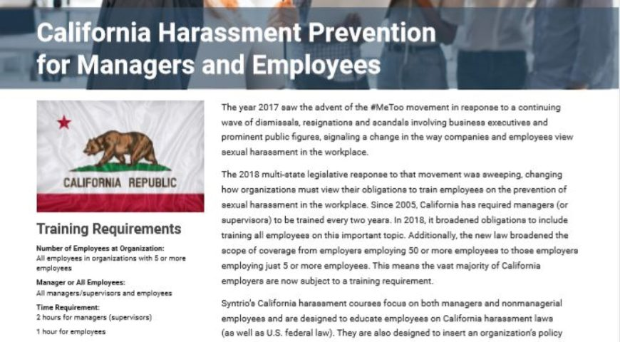California Harassment Prevention