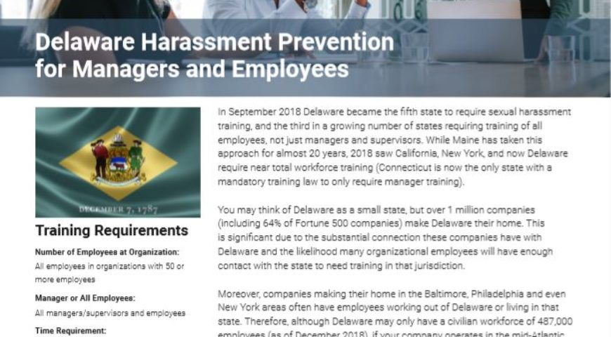 Delaware Harassment Prevention