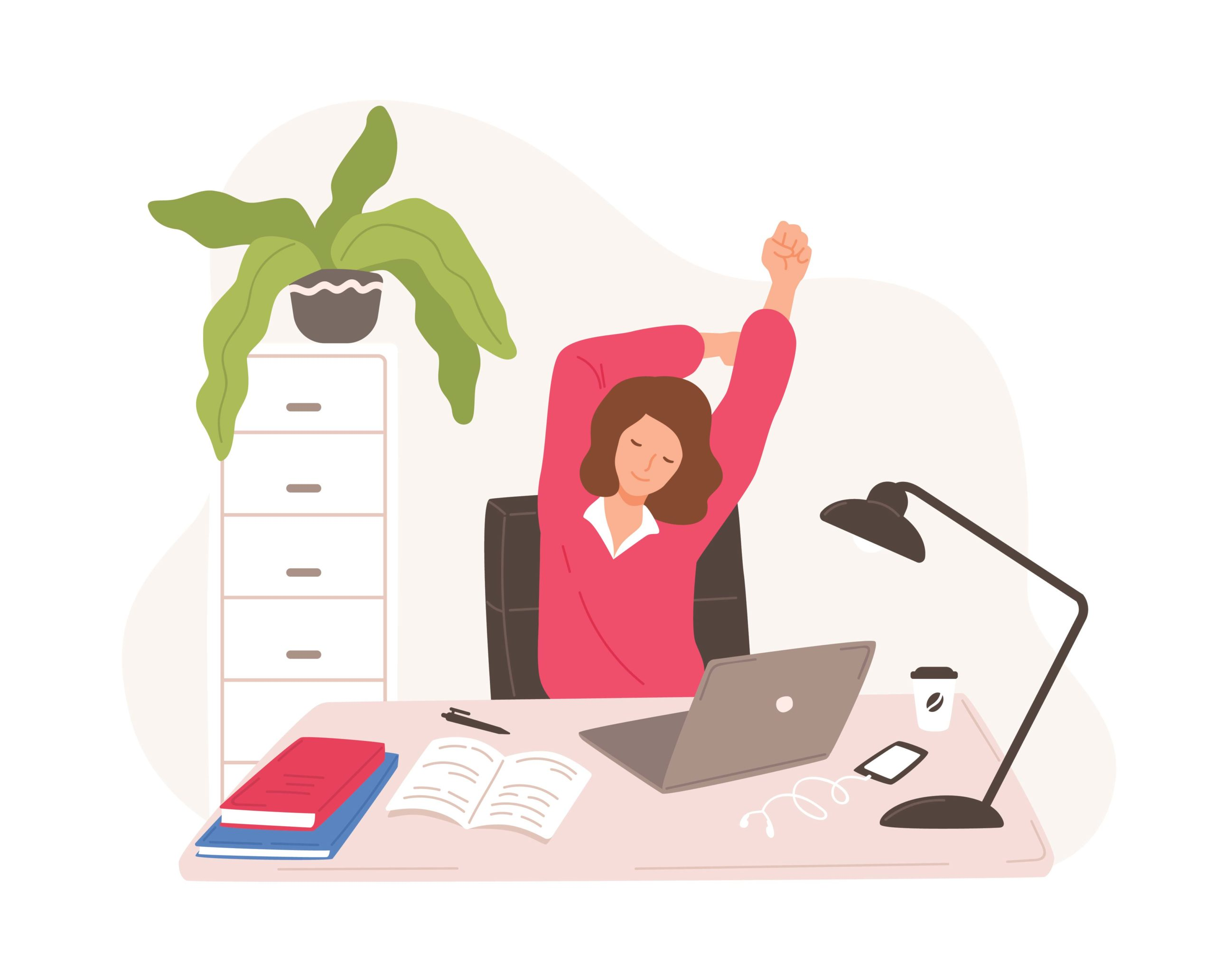 Get a Jump on Your Day. Exercises to Support an Ergonomic Home Office Workspace.